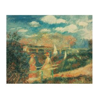 Impression Sur Bois Pierre banques de Renoir un   de la Seine à