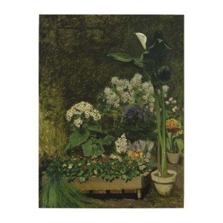 Impression Sur Bois Pierre fleurs de Renoir un   en serre chaude