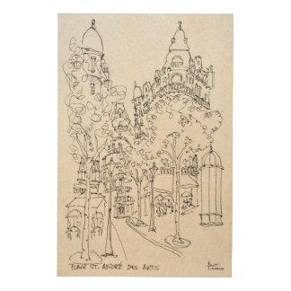Impression Sur Bois Placez les arts de DES de St André | Paris, France