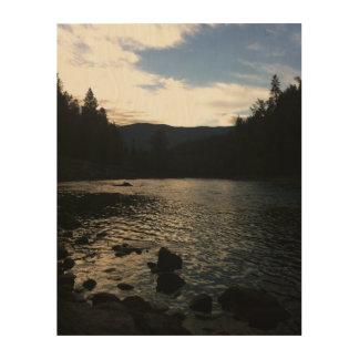 Impression Sur Bois Plage au lever de soleil