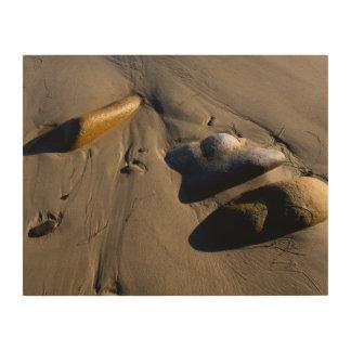 Impression Sur Bois Plage/sable/pierres/roches/cailloux