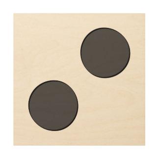 Impression Sur Bois Points gris-foncé Checkered