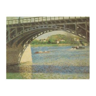 Impression Sur Bois Pont à Argenteuil par Gustave Caillebotte