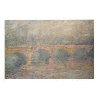Impression Sur Bois Pont de Claude Monet | Waterloo, Londres, au