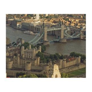 Impression Sur Bois Pont de tour et tour de Londres