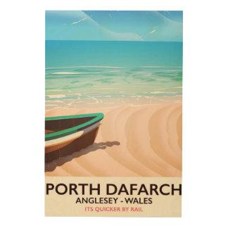 Impression Sur Bois Porth Dafarch, affiche de plage d'Anglesey Gallois