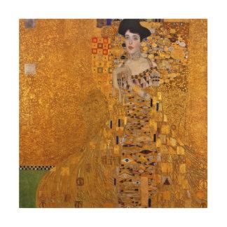 Impression Sur Bois Portrait de Gustav Klimt de cru d'Adele GalleryHD