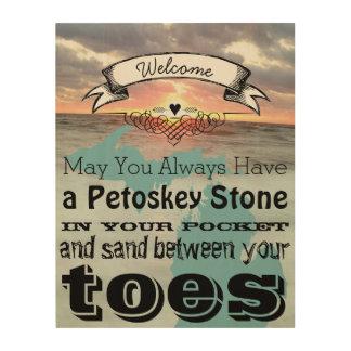 Impression Sur Bois Pouvez vous avoir la pierre de Petoskey en sable