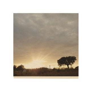 Impression Sur Bois Rayons du Sun