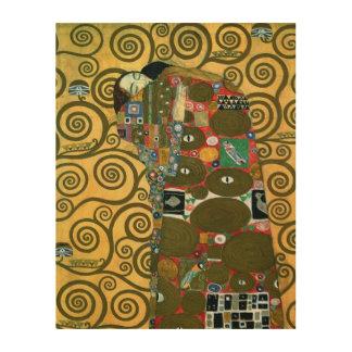 Impression Sur Bois Réalisation aka l'étreinte par Gustav Klimt
