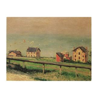 Impression Sur Bois Régate chez Villerville par Gustave Caillebotte
