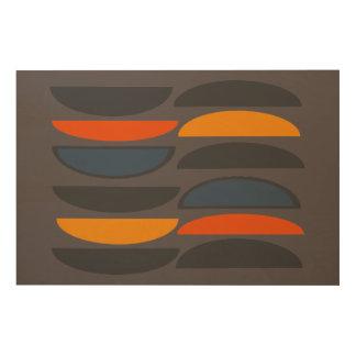 Impression Sur Bois Rétro copie en bois d'art de mur - 36 x 24