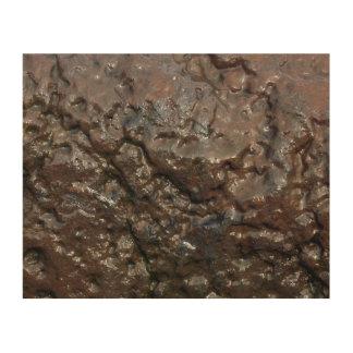Impression Sur Bois Roche humide