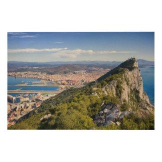 Impression Sur Bois Rocher de Gibraltar