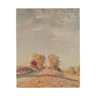 Impression Sur Bois Route ascendante d'Alfred Sisley   en soleil