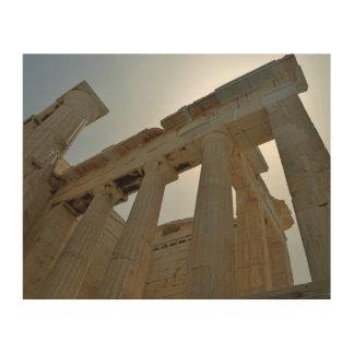 Impression Sur Bois Ruines de Grec