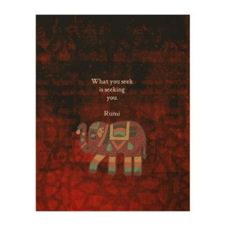 Impression Sur Bois Rumi inspiré ce qui vous cherchez la citation