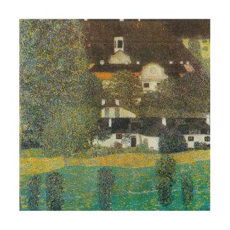 Impression Sur Bois Schloss Kammer sur l'Attersee II par Gustav Klimt