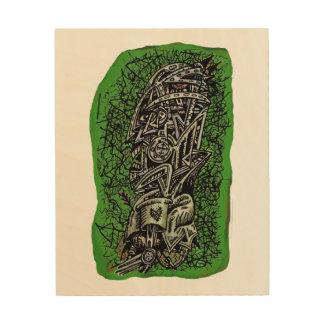 Impression Sur Bois Sergent de zombi, copie en bois