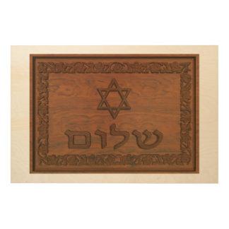 Impression Sur Bois Shalom en bois découpé