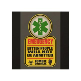 Impression Sur Bois Signe de zombi de secours