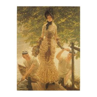 Impression Sur Bois Sur la Tamise par James Tissot, réalisme vintage