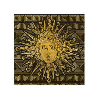 Impression Sur Bois Symbole d'Apollo Sun sur le motif principal grec