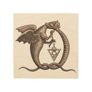 Impression Sur Bois Symboles de Mercury de soufre de serpent de dragon