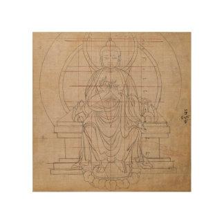 Impression Sur Bois Symétrie tibétaine