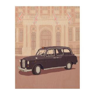 Impression Sur Bois taxi noir de Londres