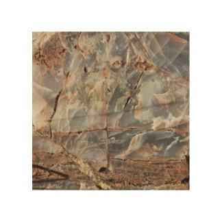 Impression Sur Bois Texture criquée de minerai de quartz
