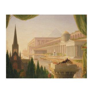 Impression Sur Bois Thomas Cole - le rêve de l'architecte