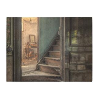 Impression Sur Bois Toile de bois - l'Abandoned Place escalier tire