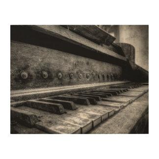 Impression Sur Bois Toile de bois - Old Piano vieux piano - de bois