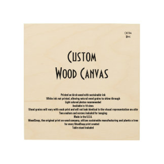 Impression Sur Bois Toile en bois à la maison faite sur commande