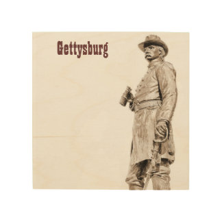 Impression Sur Bois Toile en bois de la statue 2 de Gettysburg