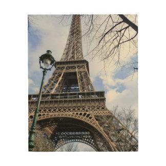 Impression Sur Bois Tour Eiffel au printemps