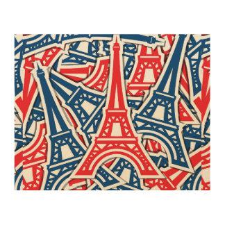 Impression Sur Bois Tour Eiffel, motif de la France