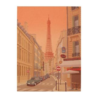 Impression Sur Bois Tour Eiffel Paris