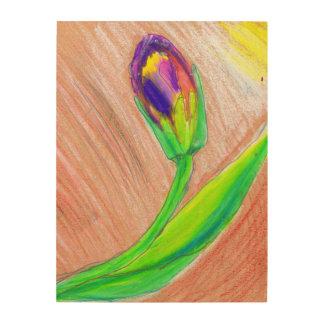 Impression Sur Bois Tulipe