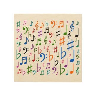 Impression Sur Bois Un bon nombre de notes musicales et de symboles