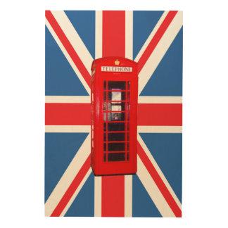 Impression Sur Bois Union Jack/boîte de drapeau et de téléphone