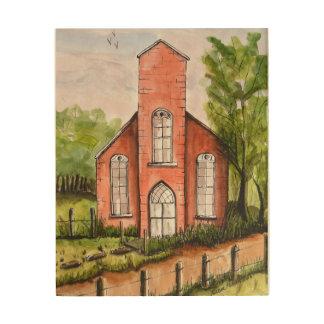 Impression Sur Bois Vieille peinture d'église