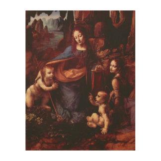 Impression Sur Bois Vierge des roches par Leonardo da Vinci