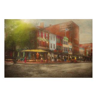 Impression Sur Bois Ville - Washington DC - la vie sur 7ème St 1912
