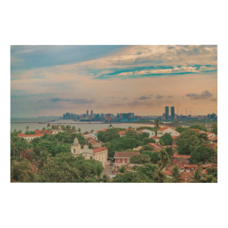 Impression Sur Bois Vue aérienne d'Olinda et de Recife Pernambuco