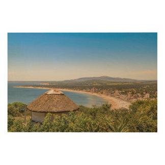 Impression Sur Bois Vue aérienne Piriapolis Uruguay de paysage