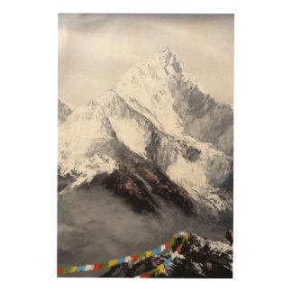 Impression Sur Bois Vue panoramique de montagne d'Everest