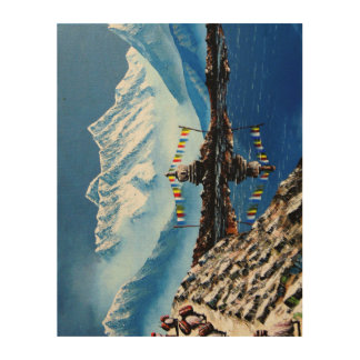 Impression Sur Bois Vue panoramique de montagne Népal d'Annapurna