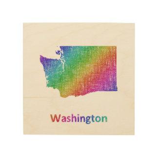 Impression Sur Bois Washington